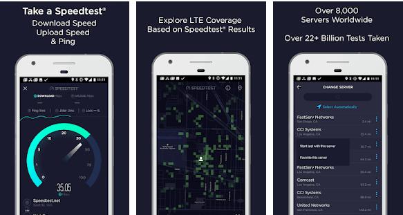 Speedtest, скриншот
